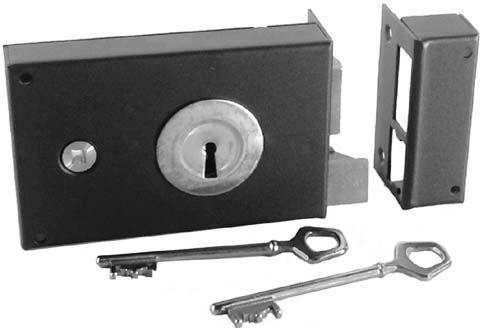 serrure horizontale en applique gauche carr de 6mm en. Black Bedroom Furniture Sets. Home Design Ideas