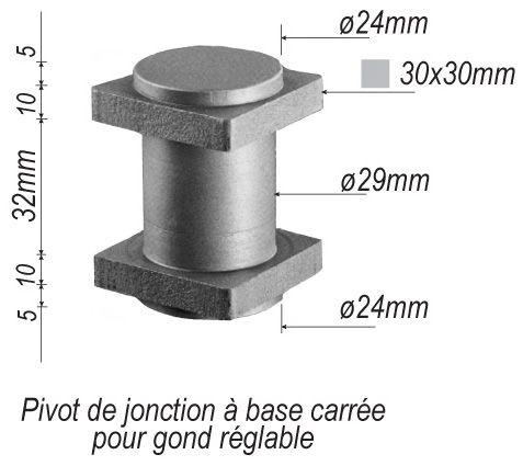 pivot de jonction acier pour portail en fer forg en acier. Black Bedroom Furniture Sets. Home Design Ideas