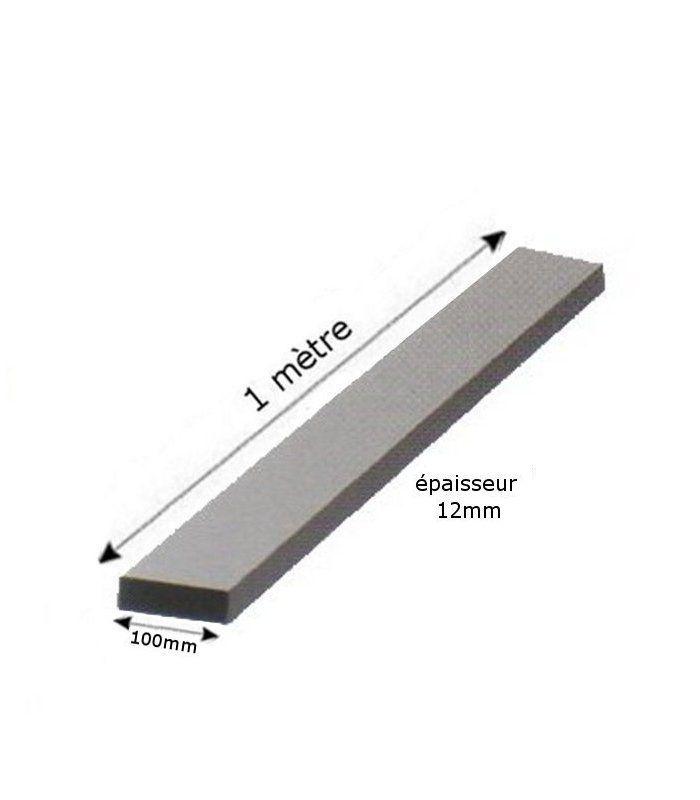 fer plat 100x12mm longueur 1 m tre en acier ferronnerie la forge bertrand. Black Bedroom Furniture Sets. Home Design Ideas