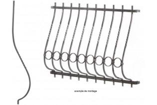 balustre galbe et torsade 1050x155 section 12x12 acier fer. Black Bedroom Furniture Sets. Home Design Ideas