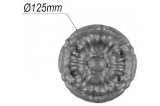 pièce élément ferronnier serrurier Rosace pour portail Diamètre 125 ACIER Ref: 10-01