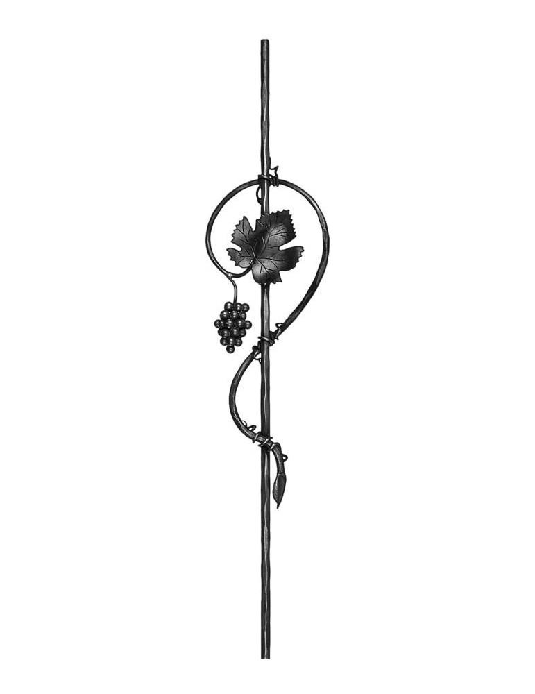 balustre 1000 x 215 diam tre 16 section gauche acier fer. Black Bedroom Furniture Sets. Home Design Ideas
