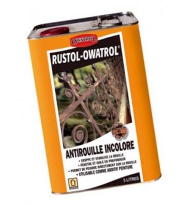 pièce élément ferronnier serrurier Antirouille Pro Incolor Rustol 5 litres Fer Forgé Acier Ref: BBRUSTOL5L