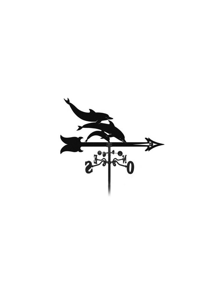 élément prêt à poser Girouette Dauphin 1000x900 fer forgé Ref: BE16200