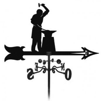 élément prêt à poser Girouette Ferronnier 1000x900 fer forgé Ref: BE16203