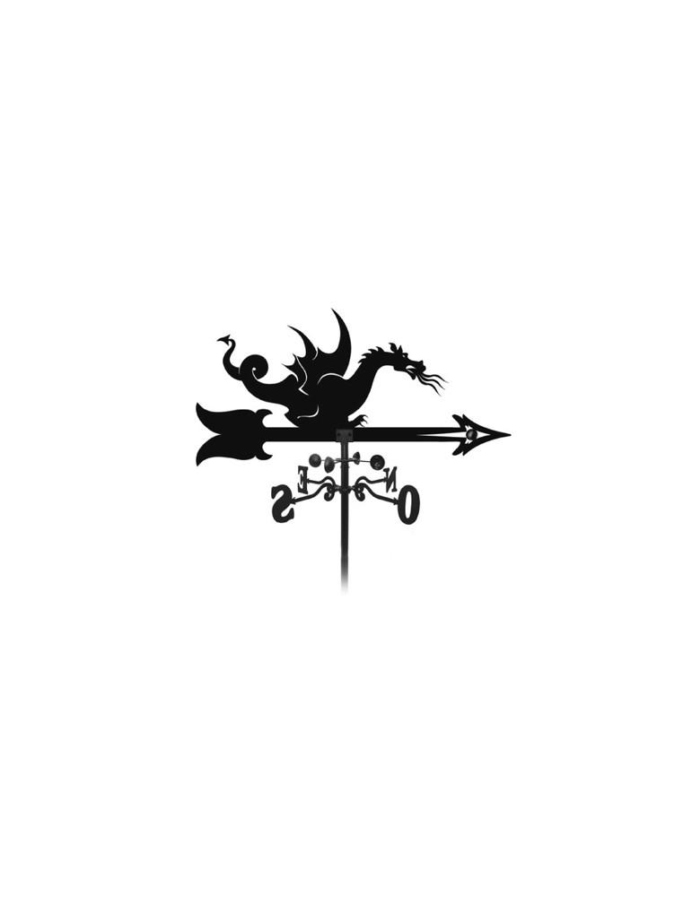 élément prêt à poser Girouette Dragon des océans 1000x900 fer forgé Ref: BE16210