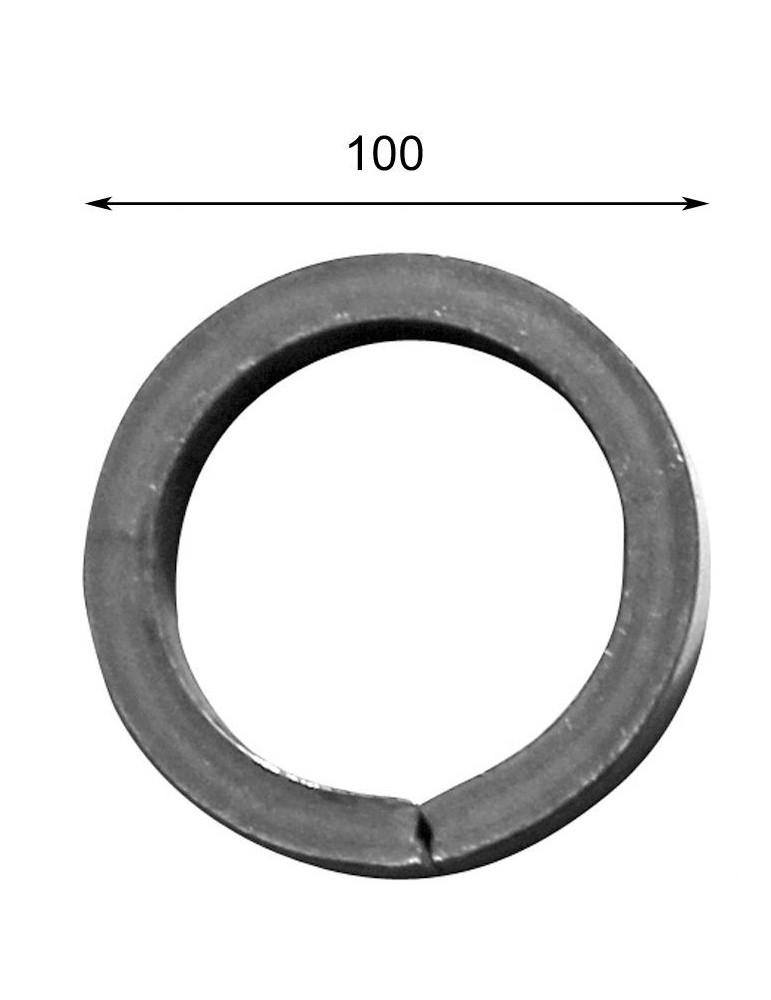 pièce élément ferronnier serrurier Cercle LISSE ROND Section 14 Diamètre 100 ACIER Ref: A100LC14