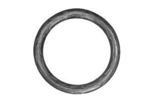 pièce élément ferronnier serrurier Cercle LISSE ROND Section 14 Diamètre 100 ACIER Ref: A100LR14