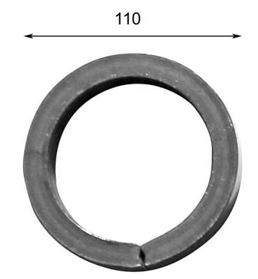 pièce élément ferronnier serrurier Cercle LISSE ROND Section 14 Diamètre 110 ACIER Ref: A110LC14