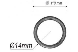 pièce élément ferronnier serrurier Cercle LISSE ROND Section 14 Diamètre 110 ACIER Ref: A110LR14