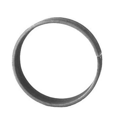 pièce élément ferronnier serrurier Cercle LISSE ROND Section 14x6 Diamètre 125 ACIER Ref: A125L14X6