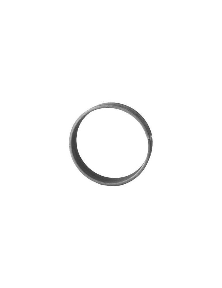 pièce élément ferronnier serrurier Cercle LISSE ROND Section 20x6 Diamètre 80 ACIER Ref: A80L20X6