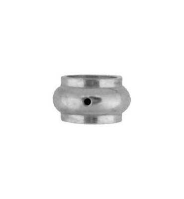 pièce élément ferronnier serrurier Garniture RONDE Diamètre 25 Hauteur 14 Passage 16 ACIER Ref: F62.420