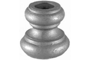 pièce élément ferronnier serrurier Garniture RONDE Diamètre 40 Hauteur 40 Passage 14 ACIER Ref: G4-14D