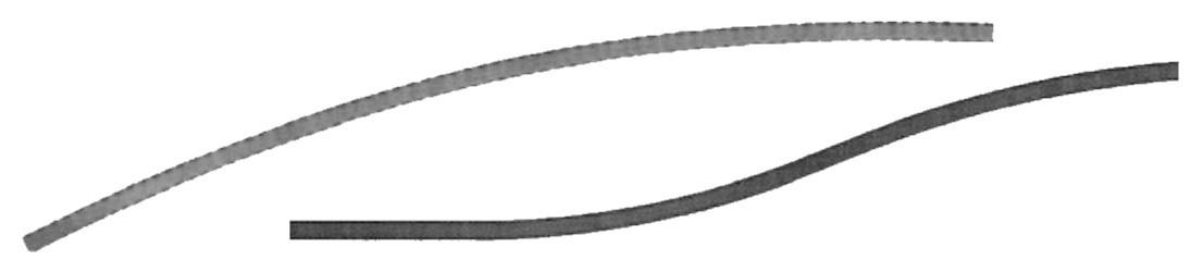 Traverses cintrées en acier fer forgé