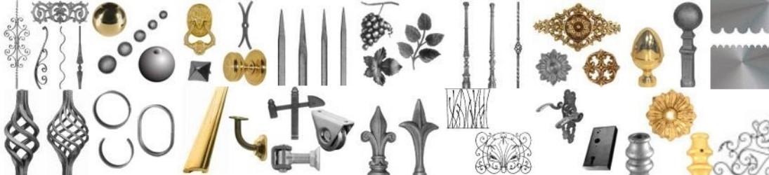 Tous les pièces détachées pour le fer forge, l'acier, l'aluminium et le laiton pour les ferronniers, serruriers