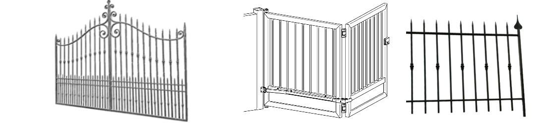 vente des éléments prêts à poser : les portails en fer pour les ferronniers et serruriers particuliers ou professionnels.