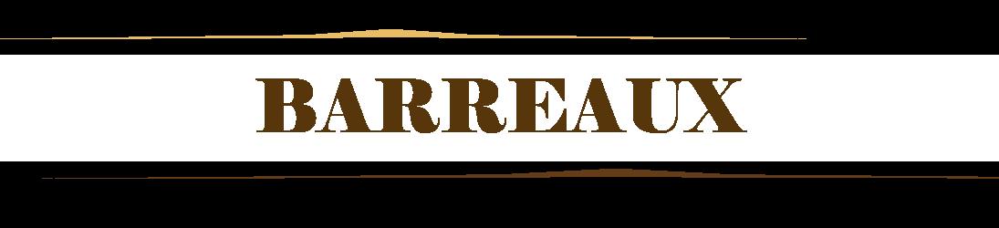 Pièce détachées Remplissage Barreaux pour Grilles fixes en acier fer forgé, laiton, inox