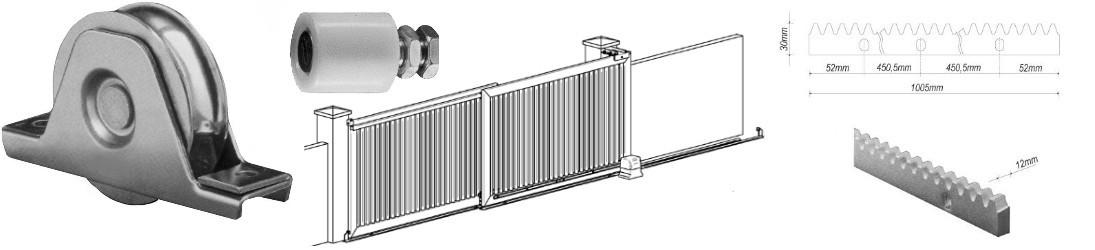 accessoires pièces détachées pour la fabrication et la réparation pour les portails coulissant