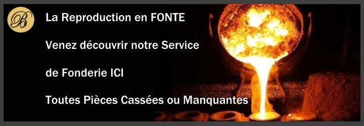 La forge Bertrand vous propose un service de reproduction des vos pièces en fonte ou en fer forgé