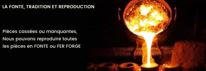 La forge Bertrand vous propose la reproduction des vos pièces en fonte ou en fer forgé