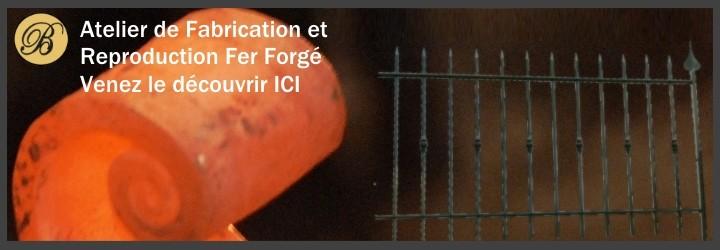 La Forge Bertrand, fabrication et réalisation sur mesure, volutes, barreau, balustre, pointe, portail, portillon, pergola...